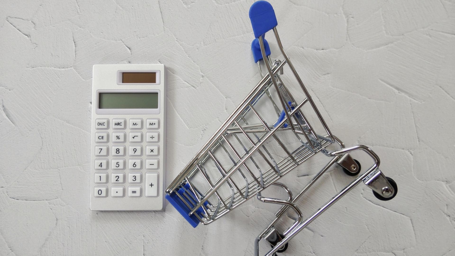 計算機とショッピングカート